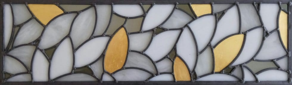 Stained glass foliage with gold leaf