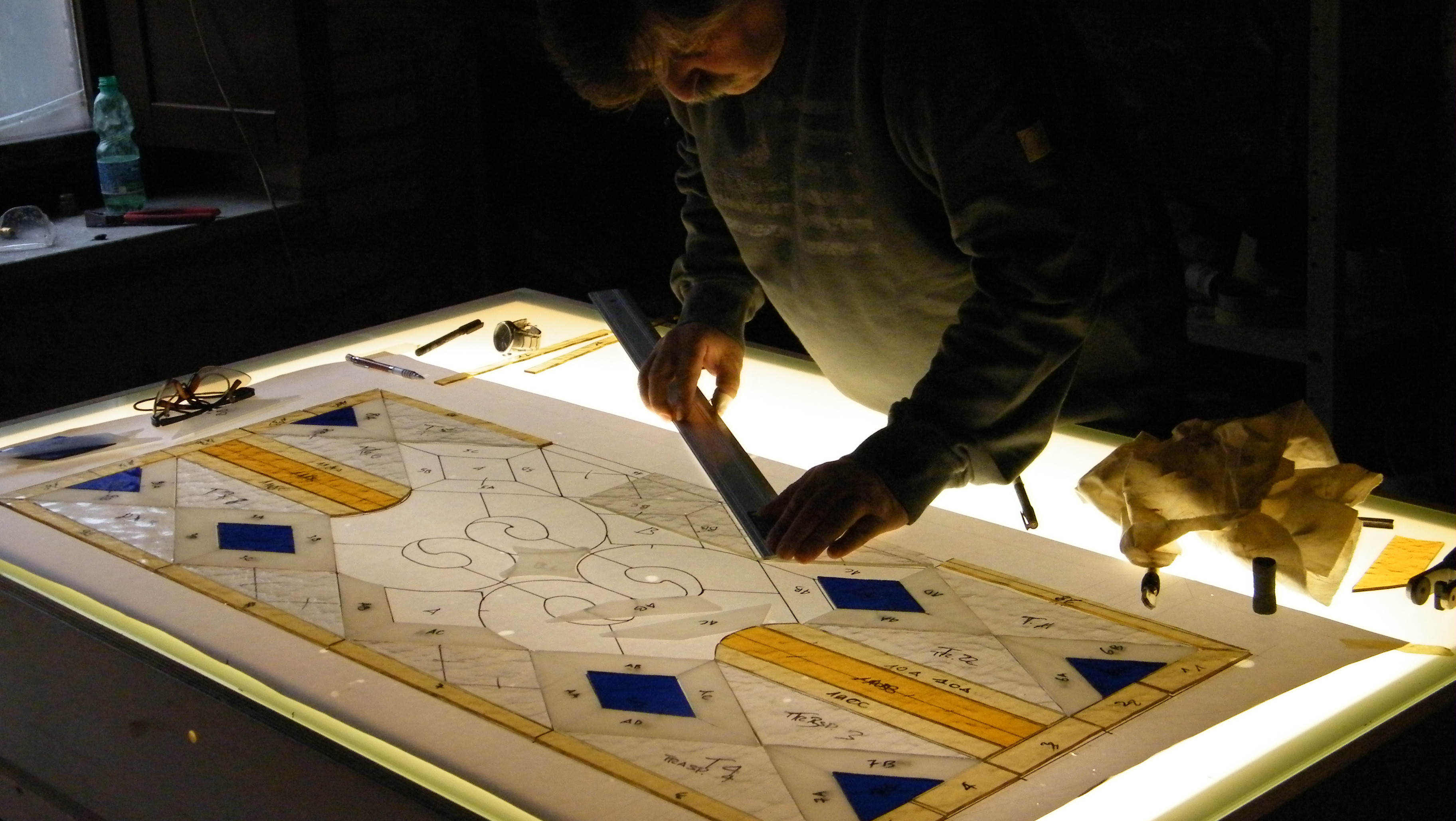 January's Stained Glass Course Alfredo