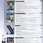 Indice della rivista di vetrate artistiche Glass patternas quarterly con pubblicazione di una vetrata di Iko Studio opera di Diego Tolomelli