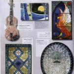 Pubblicazione della vetrata artistica di Diego Tolomelli nella ricista dell'arte del vetro Glass Patterns Quarterly