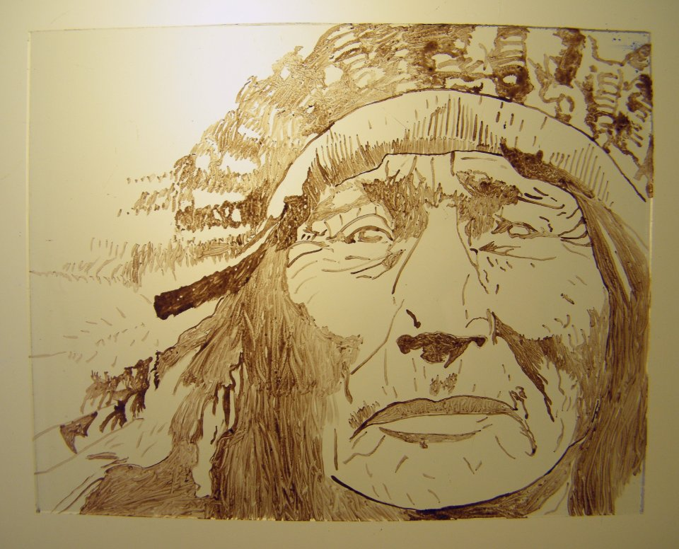 Glass Painting Native American