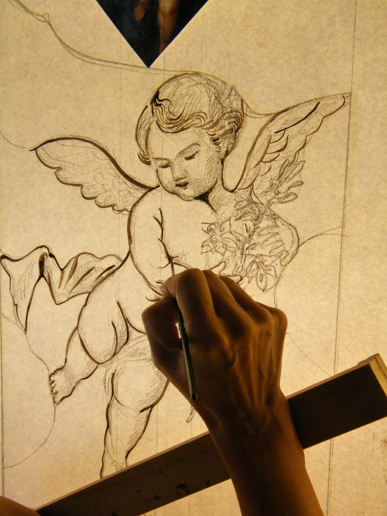 Glass Painting Little Angel