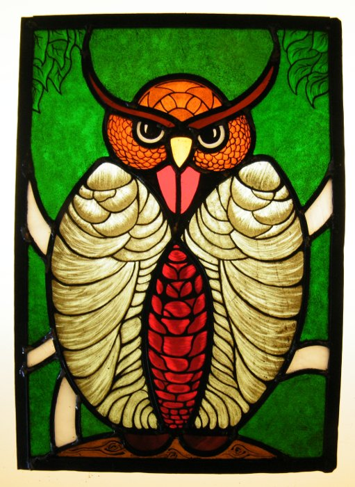 Stained Glass Course Owl