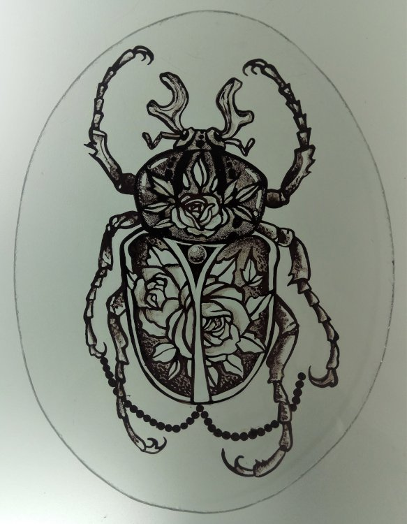 Glass Painting Class Scarab