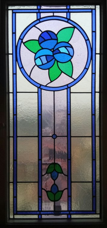 Stained Glass with Mackintosh Roses