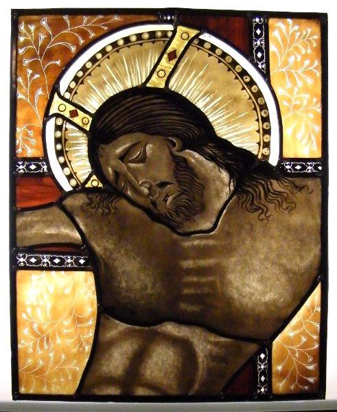 Curso de vitral Cristo de Cimabue