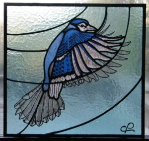 Blue Jay – Stained Glass Course Costanza