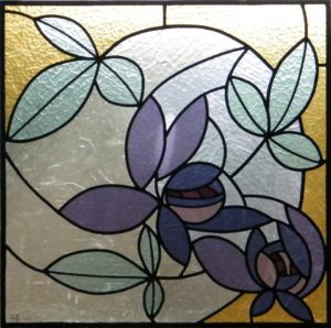 Stained Glass Purple flowers