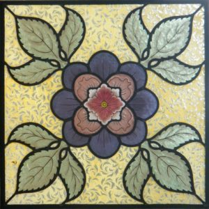 Stained Glass Course Flower Design