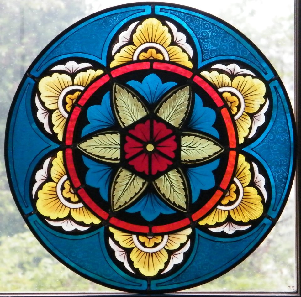 Gothic roundle stained glass