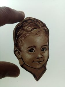 Glass Painting Class Small Baby Face