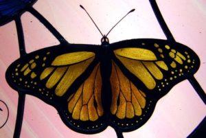 Varfalla vetro dipinto giallo