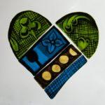 Glass Painting Heart Shape