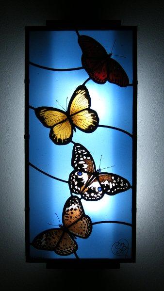 Lamada Farfalle Vetrata Artistica