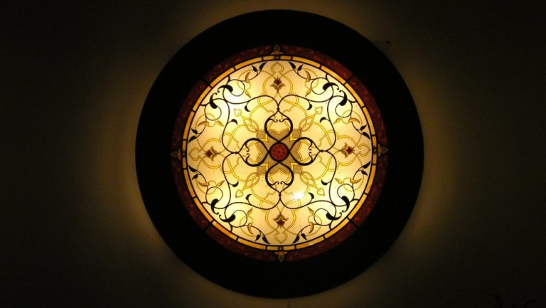 Lampara con vitral Arabe Circular