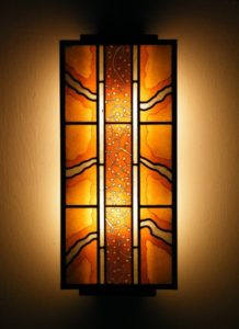 Orange Abstract Lamp