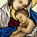 Madonna and Christ Child stained glass - ikostudio.it