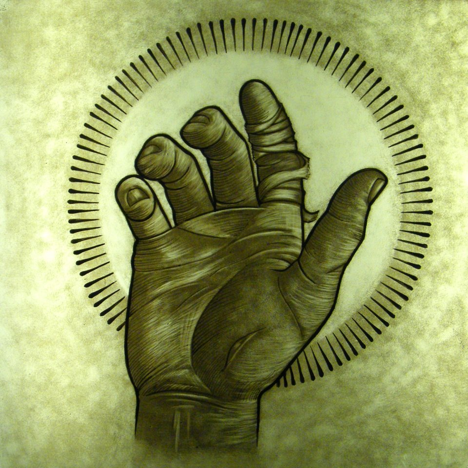 Glass Painting Hand