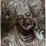 Glass Painting Class Clown Face