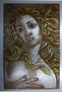 Pittura Vetro Colombia Venere