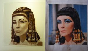 Glass Paint Elizabeth Taylor