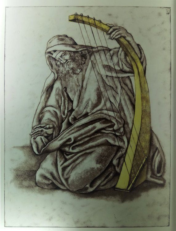 Glass Painting Moses