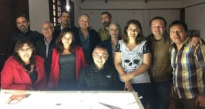 Second glass painting course in Colombia