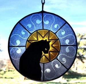 Sun Catcher Gatto Blu