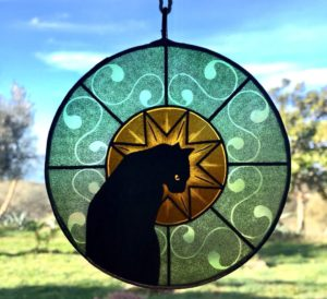 Sun Catcher Gatto Verde
