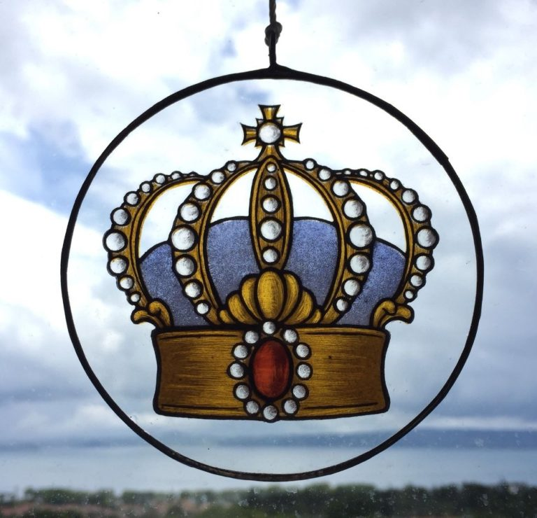 Suncather Crown Stained Glass Painting