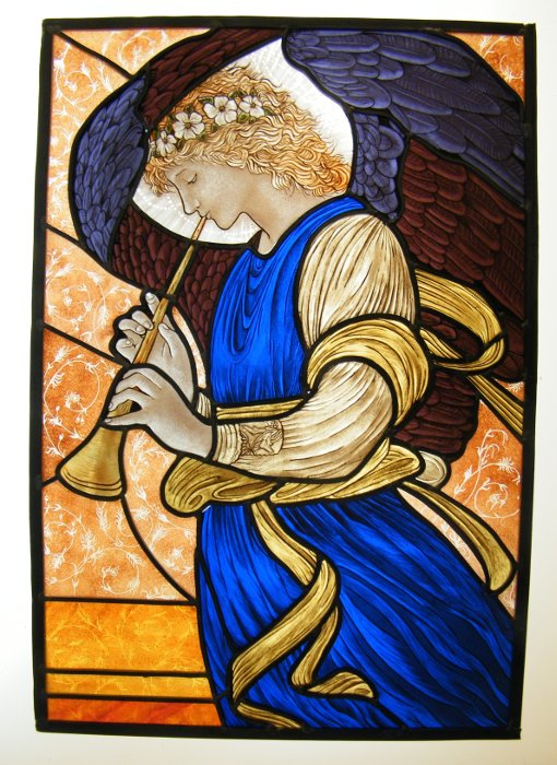 Stained Glass Angel Burne Jones