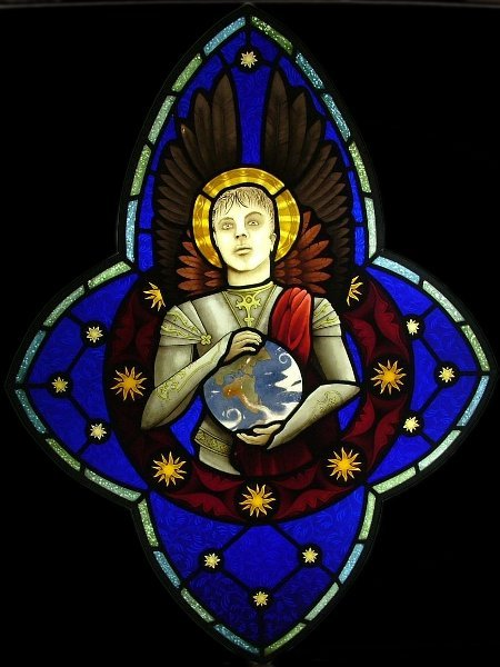 Stained Glass Gothic Angel