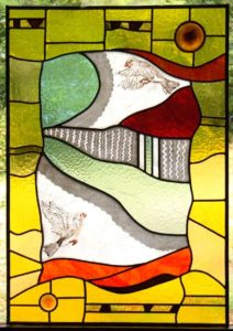 A colorful stained glass