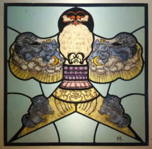 Chinese style stained glass