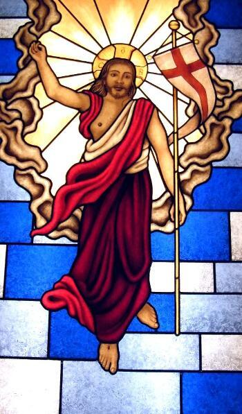 Vitral para Capilla con Cristo Resucitado