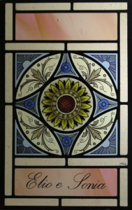 Decorative Window with Dedication