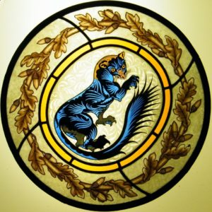 Decorative Stained Glass with Ferret