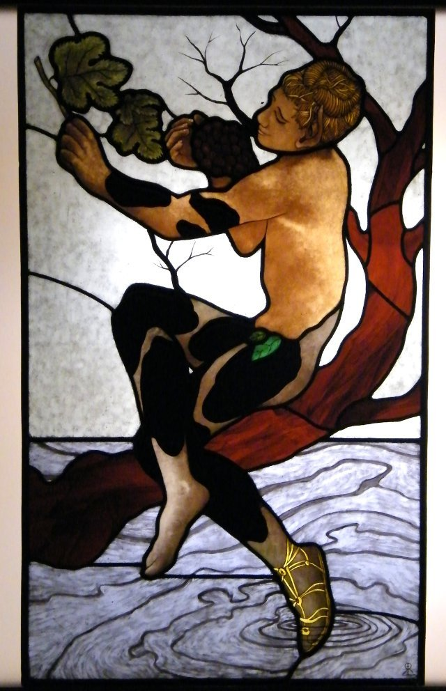 The finished stained glass