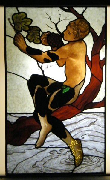 Stained Glass Faun