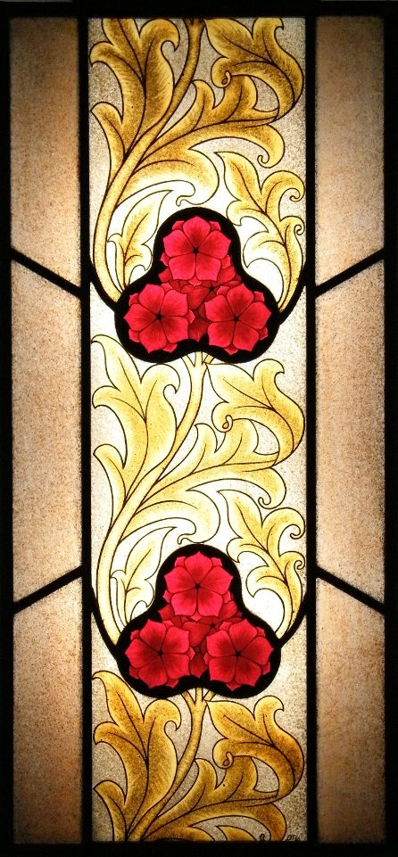 Baroque Flowers Stained Glass
