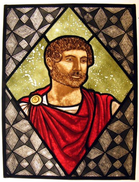 Vetrata Artistica Imperatore Adriano