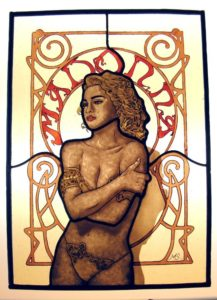 Madonna in stained glass