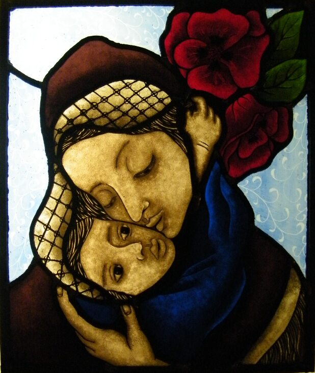 Stained Glass Mother Child