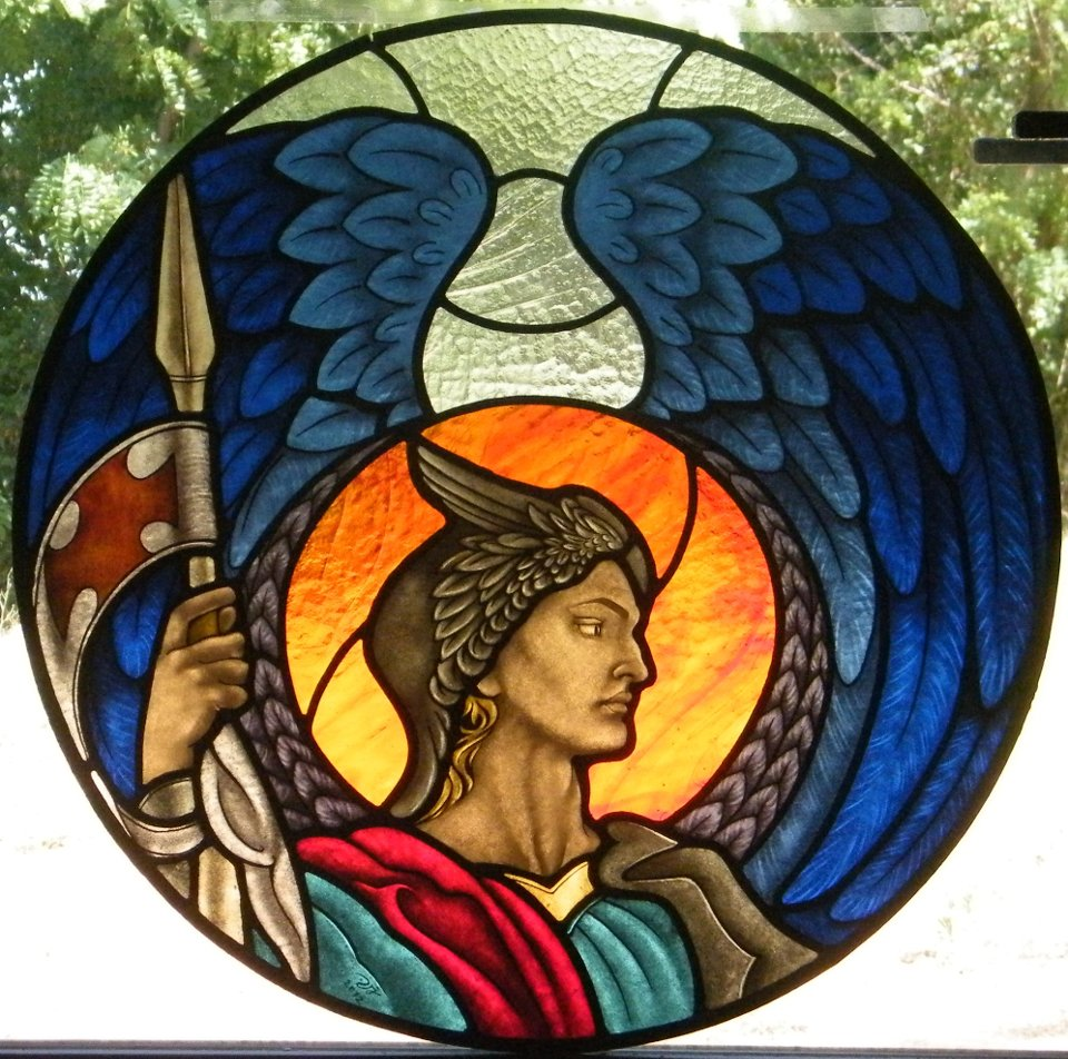 Stained Glass Saint Michael