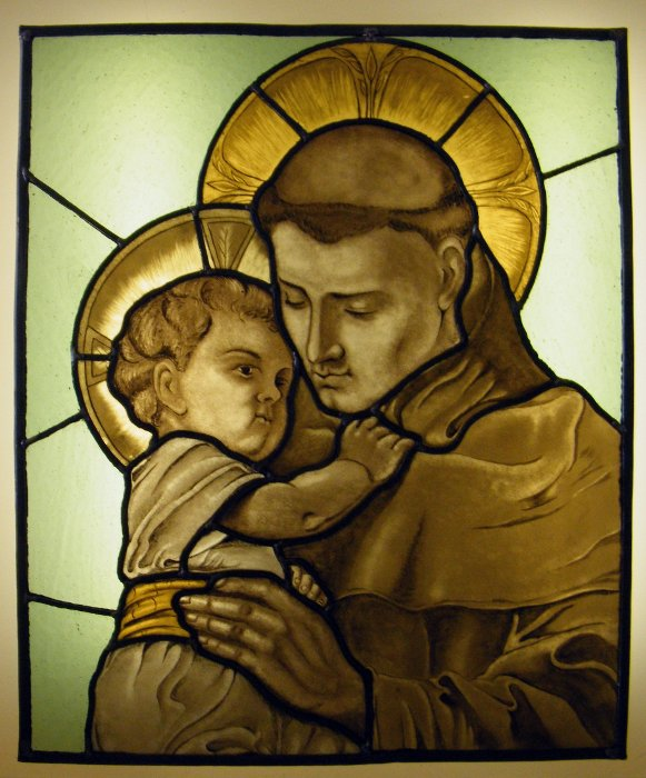 Stained Glass Saint Anthony