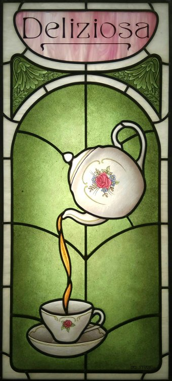 Tea Room Stained Glass Window