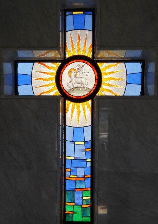 Vetrata Croce Cappelle Cimiteriali