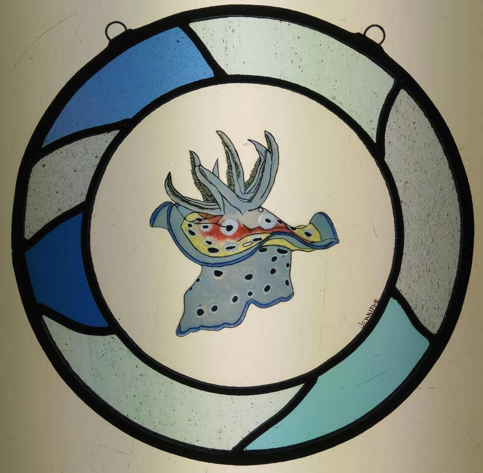 Vitral de caracol de mar