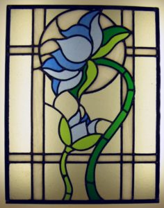 Stained Glass Blue Flower
