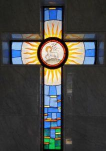 Vetrata Sacra Con Croce